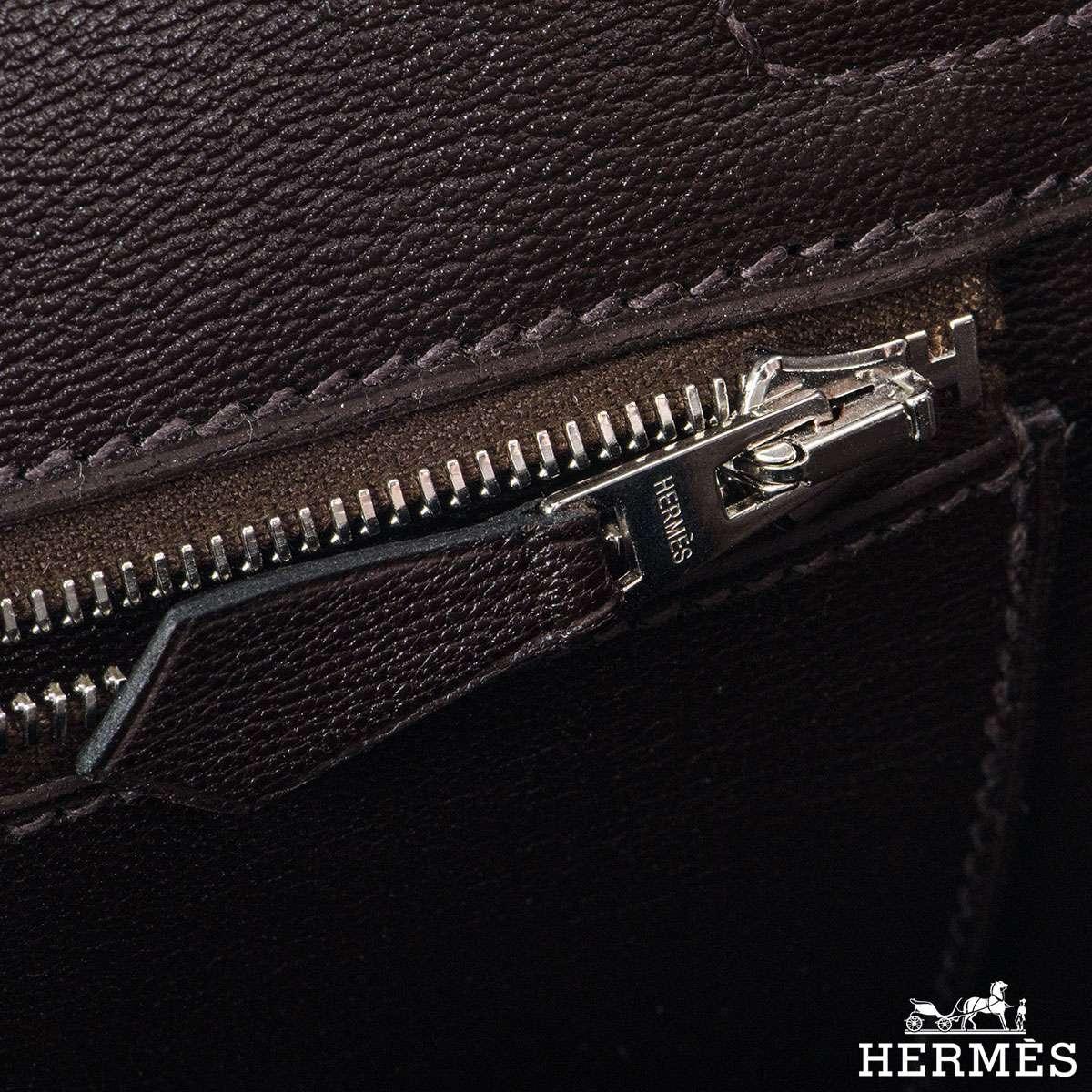 Hermès 25cm Cacoan Shiny Niloticus Crocodile Birkin Bag